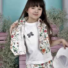 Spodenki dla dziewczynki w hibiskusy