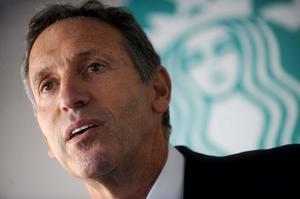 Howard Schultz, CEO of Starbucks