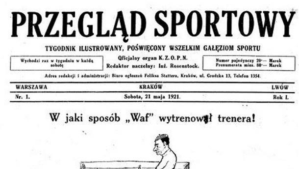 Pierwsza okładka Przeglądu Sportowego