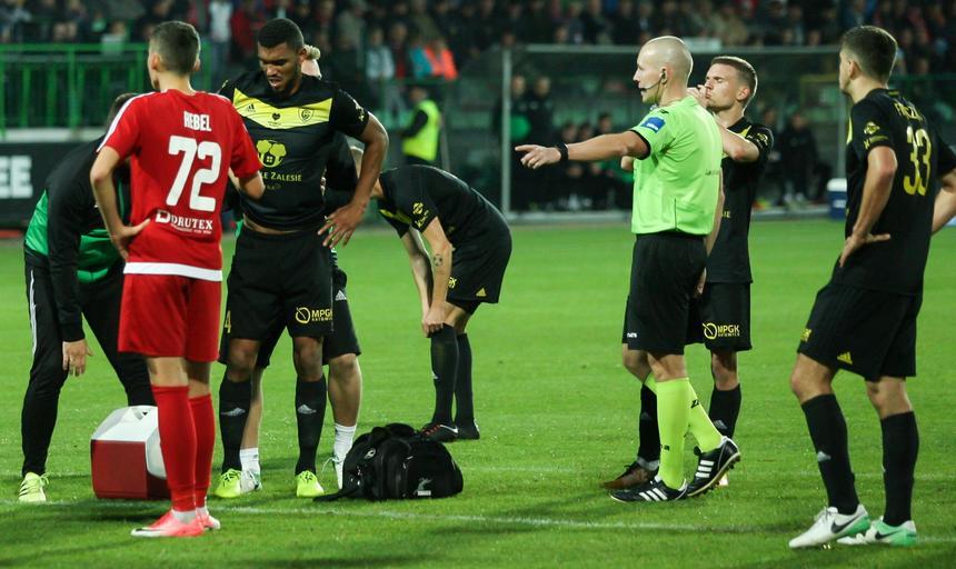 Pilka nozna. Nice I liga. Drutex-Bytovia Bytow - GKS Katowice. 30.09.2017