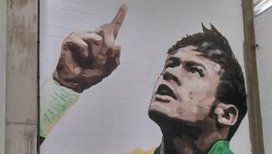 Neymar mural