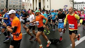 Maratończycy na trasie