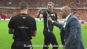 Jagiellonia - Lech 2:2. Wielkie emocje trenera Probierza na ławce i w szatni!