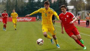 Pilka nozna. UEFA Development U16. Polska - Ukraina. 17.04.2017