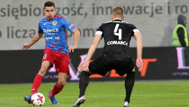 Pilka nozna. Ekstraklasa, Piast Gliwice - Cracovia Krakow. 18.11.2017
