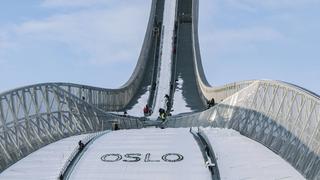 widok skocznia Oslo