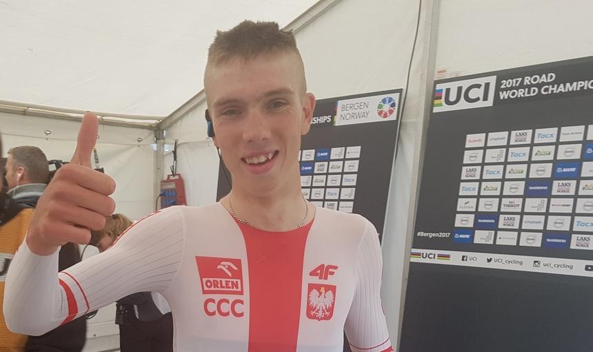 MŚ w kolarstwie: Brąz Maciejuka w jeździe na czas juniorów