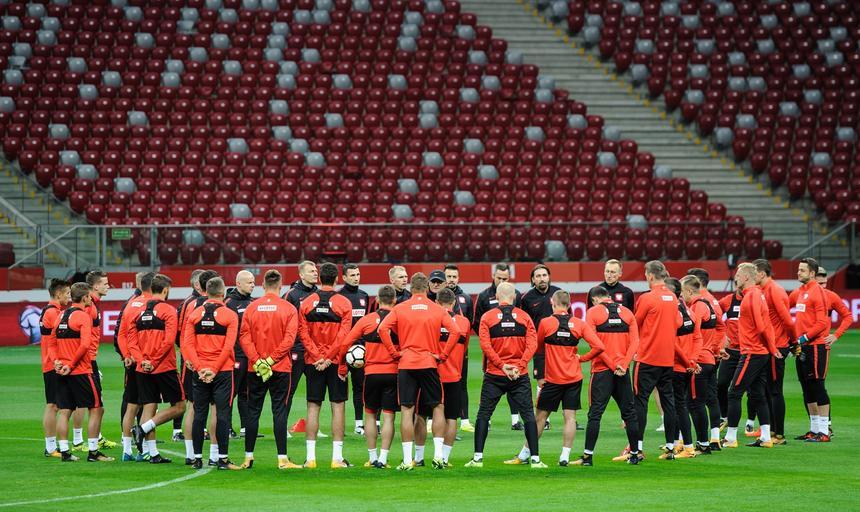 Trening przed meczem Polska - Czarnogora