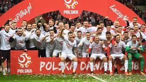 Piłkarska reprezentacja Polski - radość po meczu