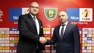 Pilka nozna. Nice I liga. GKS Katowice. Konferencja prasowa. 03.11.2017