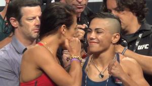 Ważenie przed galą UFC 211. Jędrzejczyk twarzą w Twarz z Andreade