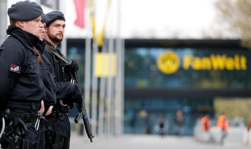 Security ahead of Borussia Dortmund vs. AS Monaco