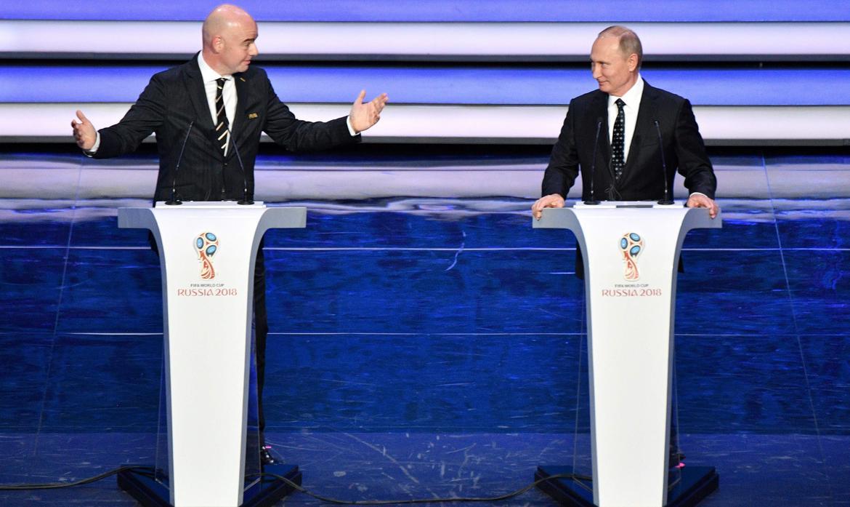 Gianni Infantino, Władimir Putin