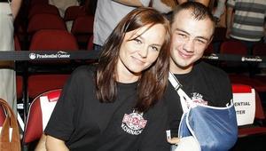 Adam Kownacki ze swoją dziewczyną