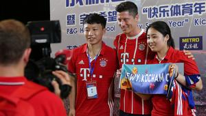 Robert Lewandowski highlights kid soccer school launch ceremony in Shanghai
