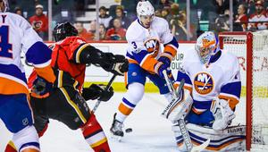 NHL: New York Islanders at Calgary Flames