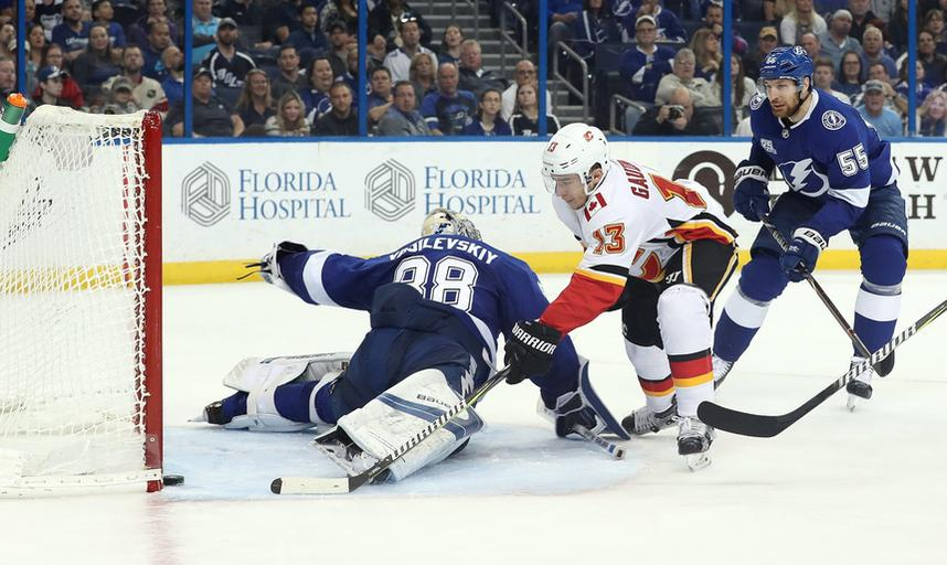 NHL: Calgary Flames at Tampa Bay Lightning