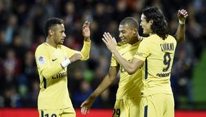 Neymar and Cavani and Mbappe