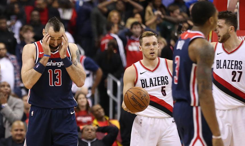 NBA: Portland Trail Blazers at Washington Wizards