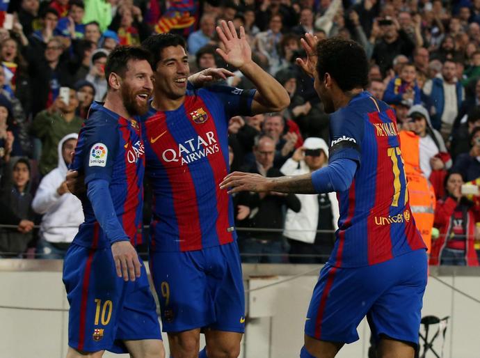 Z ofensywnego tria Barcelony Neymar strzelił w tym sezonie najmniej goli.