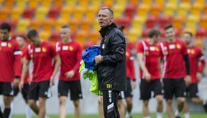 Trening Jagiellonii Bialystok przed rewanzem z Dinamo Batumi
