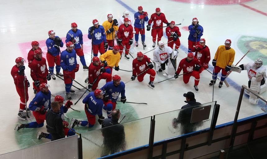 Trening hokejowej kadry