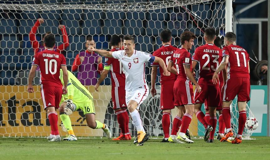 Pilka nozna. Eliminacje do MS 2018. Armenia - Polska. 05.10.2017