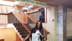 Agnieszka Radwańska, studia, dyplom
