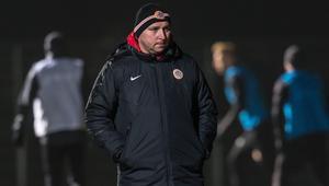 Trener Zagłębia Lubin Mariusz Lewandowski