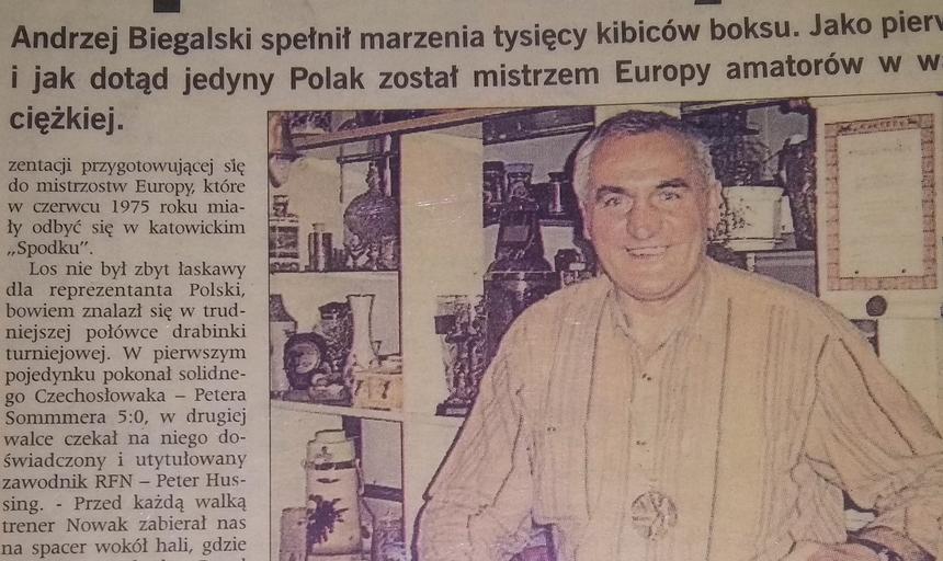 """O Andrzeju Biegalskim pisaliśmy w """"Sporcie"""" kilka lat temu."""
