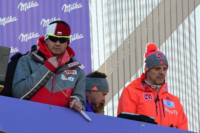 Stefan Horngacher (z lewej) i Alexander Stoeckl - uważani za dwóch największych innowatorów sprzętowych wśród trenerów głównych reprezentacji startujących w Pucharze Świata.