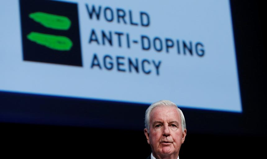Reedie President of the WADA addresses the WADA Symposium in Ecublens