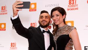 Adam Kszczot z żoną