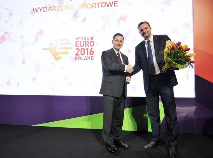 Mistrzostwa Europy w piłce ręcznej mężczyzn – Polska 2016 zostały uznane za Wydarzenie Sportowe Roku. Nagrodę odebrał Damian Drabik.