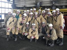 Siatkarze Jastrzębskiego Węgla zjechali w dół i zwiedzili kopalnię