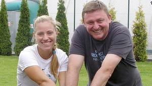 Paweł Ostrowski i Angelika Kerber