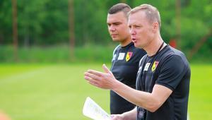 Jagiellonia Białystok pierwszy trening z nowym trenerem