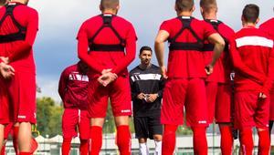 Pilka nozna. Nice I liga. Zaglebie Sosnowiec. Trening. 21.08.2017