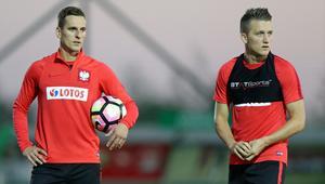 Arkadiusz Milik i Piotr Zieliński
