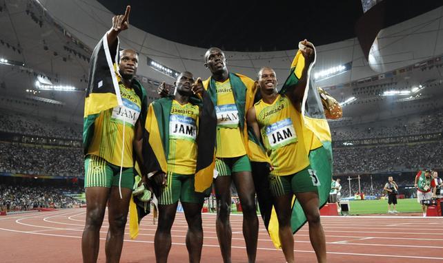 Asafa Powell, Michael Frater, Nesta Carter Usain Bolt