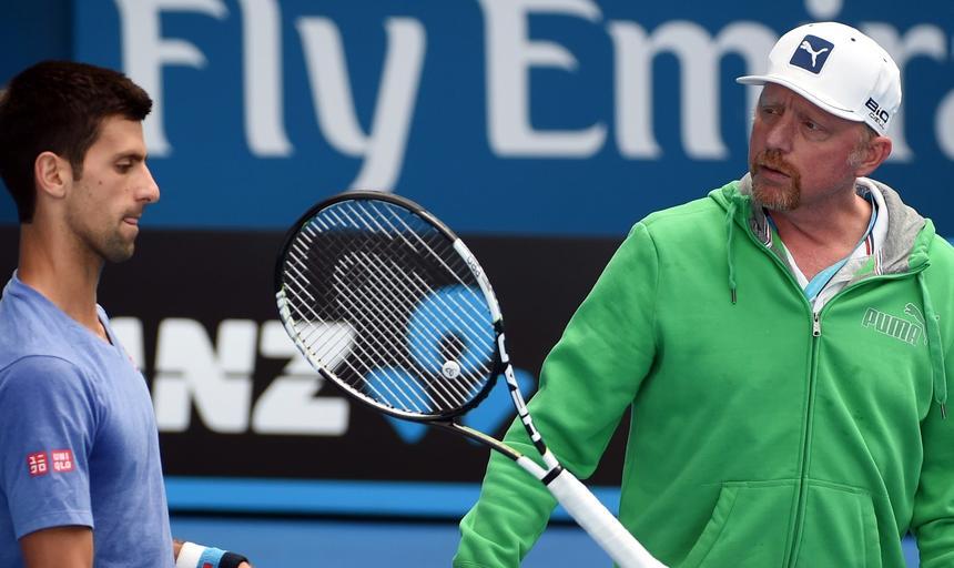 Novak Djoković Boris Becker