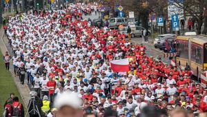 Bieg Niepodleglosci. Lekkoatletyka. Al Jana Pawla II. Warszawa 2017.11.11