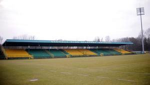 Stadion GKS Katowice przed inauguracją rundy wiosennej 1 ligi piłkarskiej