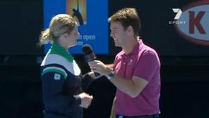 Kim Clijsters zawstydziła prezentera telewizyjnego