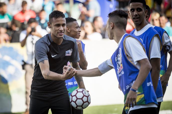Spotkanie Neymara było dla wielu zawodników spełnieniem marzeń.