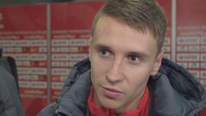 Przemysław Frankowski po meczu Polska - Włochy U-21