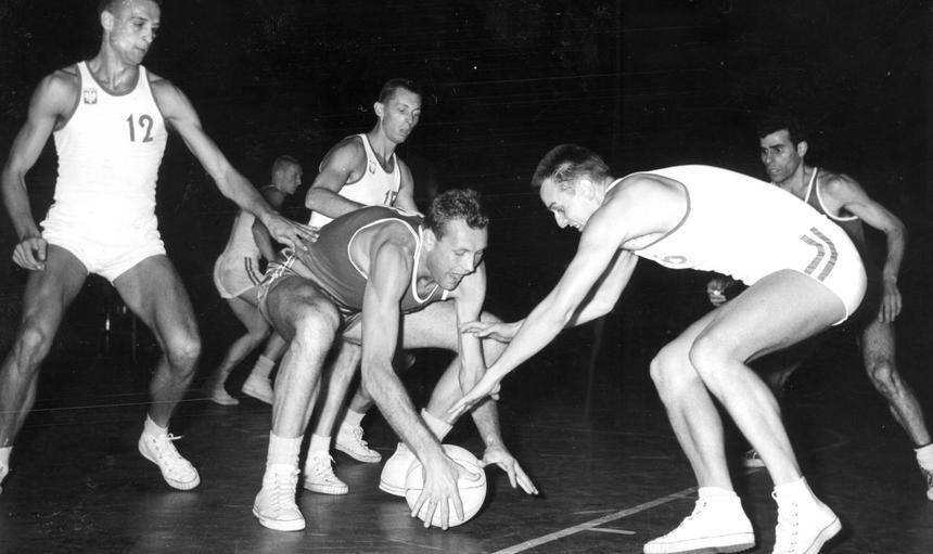 Mecz koszykówki Polska - ZSRR