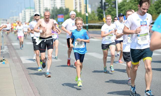 W lecie biega się raczej krótsze dystanse jak np. 5 km na Biegu Ursynowa