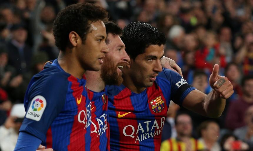 Neymar, Luis Suarez i Lionel Messi