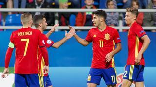 Pilka nozna. Euro U21. Hiszpania - Macedonia. 17.06.2017